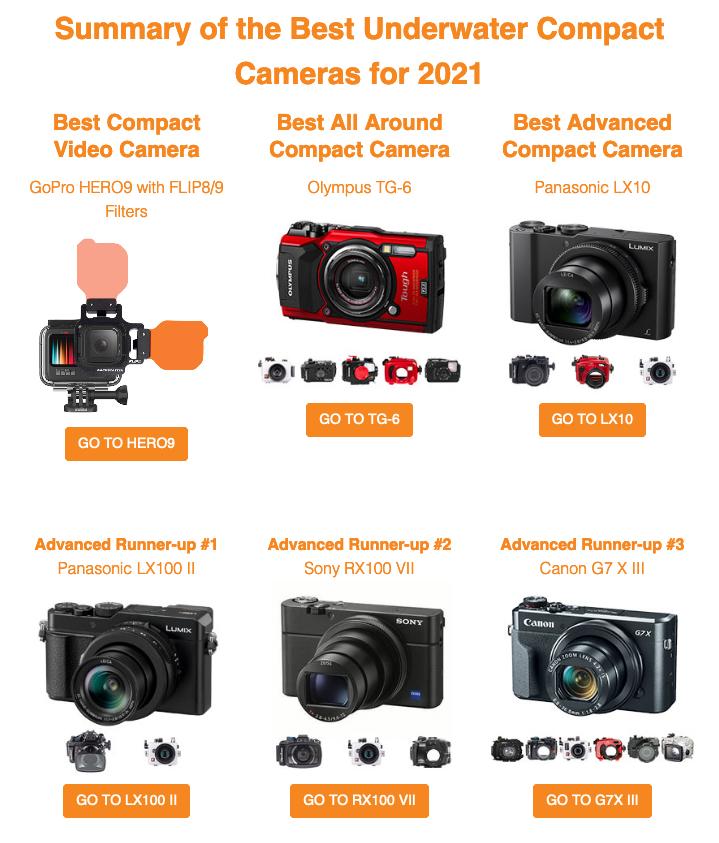 2021-05-15 Best Underwater Cameras of 2021 Compact Cameras - Underwater Photography - Backscatter